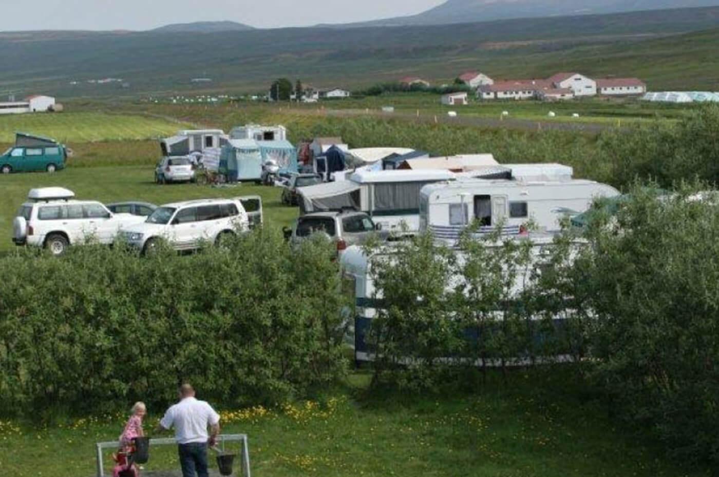 Tjaldsvæðið í Heiðarbæ